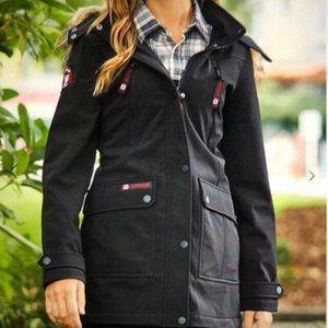Canada Weather Gear Women's Black Soft Shell